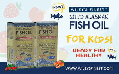 Wiley's Finest Launches Two Highly Anticipated Products for Kids: Beginners DHA featuring MenaQ7(R) Vitamin K2 and Elementary EPA featuring FloraGLO(R) Lutein.