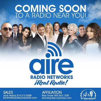 SBS Launches AIRE Radio Networks To Serve Growing National Hispanic Audiences. (PRNewsFoto/Spanish Broadcasting System, Inc.) (PRNewsFoto/SPANISH BROADCASTING...)