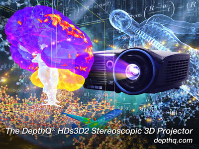 DepthQ(R) HDs3D2, Portable High Definition Stereoscopic Video Projector For Professionals. (PRNewsFoto/Lightspeed Design, Inc.)