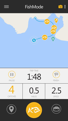 The Anglr app provides comprehensive tracking of your fishing trip.