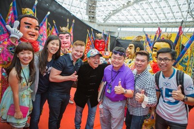 WorldVentures Kicks Off a Market Informational Meeting in Taiwan with 8,000 Guests - WorldVentures' team and the Three Princes dancers. From left to right: Ann Hung, Millie Leung, Kyle Lowe, Executive VP of Sales and Business Development, James Lee, Dr. Wu Yi Che, Jeremiah Gee, and Allen Ewe