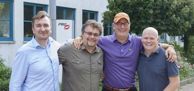 PRG Nocturne UK team - (L to R) Stefaan Michels, Mark O'Herlihy, Bob Brigham, Rich Rowley. (PRNewsFoto/Production Resource Group)