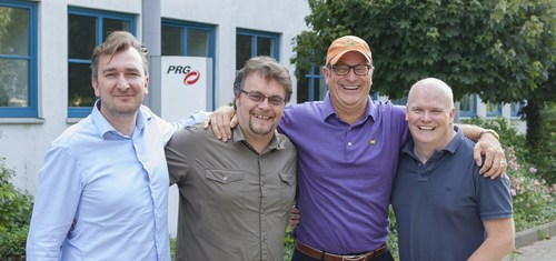PRG Nocturne UK team - (L to R) Stefaan Michels, Mark O'Herlihy, Bob Brigham, Rich Rowley. (PRNewsFoto/Production Resource Group)