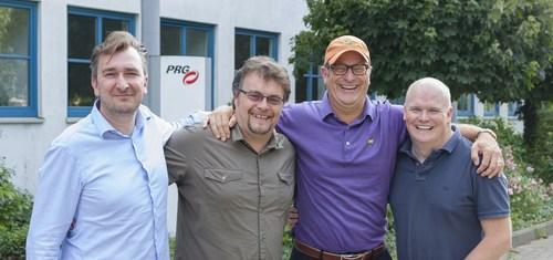 PRG Nocturne UK team - (L to R) Stefaan Michels, Mark O'Herlihy, Bob Brigham, Rich Rowley. ...