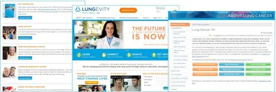 Screenshots of the new LUNGevity website
