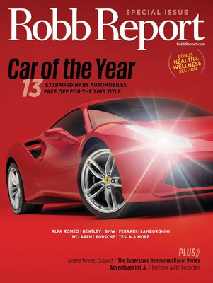 Robb Report Unveils 2016 Car of the Year in April Edition