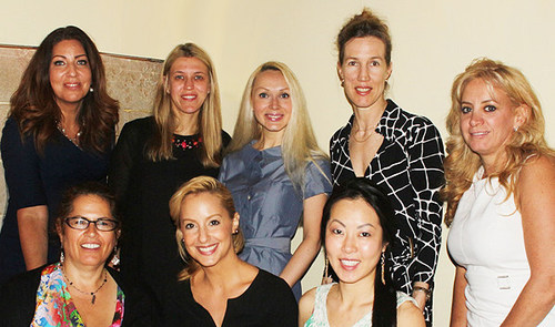 """(L-R / B-F)- The NYAPA Self2.0 Board: DIANE SCHRECK (style consultant/owner of Image by Design), DR. JENNIFER CAPLA (plastic surgeon specializing in body contouring), DR. VERONICA GREENE (cosmetic/anti-aging dentist & owner of TruImage Dental), RIKA KECK (Customized Nutrition, Holistic Health), JOYCE GALANTE (owner of Love Laser/hair removal), TAMI RACANIELLO (nutrition / wellness consultant, owner of """"It's Time to Get Fit""""), AMANDA GABBARD (Makeup Artist/Beauty Specialist), DIANA SEO (skin rejuvenation/B B Skin Lab owner) (PRNewsFoto/NY Aesthetics Professional All..)"""