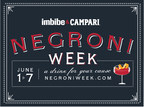 CAMPARI(R) AND IMBIBE MAKE ANOTHER TOAST TO CHARITY IN THIRD-ANNUAL NEGRONI WEEK, JUNE 1-7