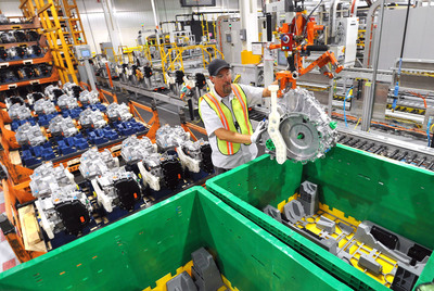 Ford's new five-year global waste reduction strategy calls for a 40 percent per vehicle reduction in the amount of waste sent to landfill between 2011 and 2016 -- equal to just 13.4 pounds per vehicle worldwide.    (PRNewsFoto/Ford Motor Company)