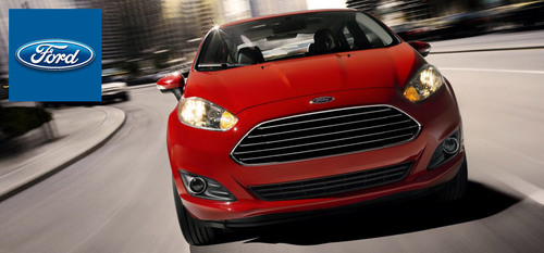 The fuel-efficient 2014 Ford Fiesta is available with three different, well-balanced engines. (PRNewsFoto/Osseo  ...