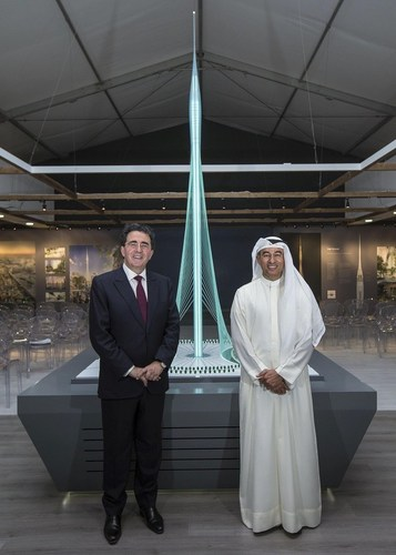 Santiago Calatrava Valls and Mohamed Alabbar, Chairman of Emaar Properties (PRNewsFoto/Emaar)