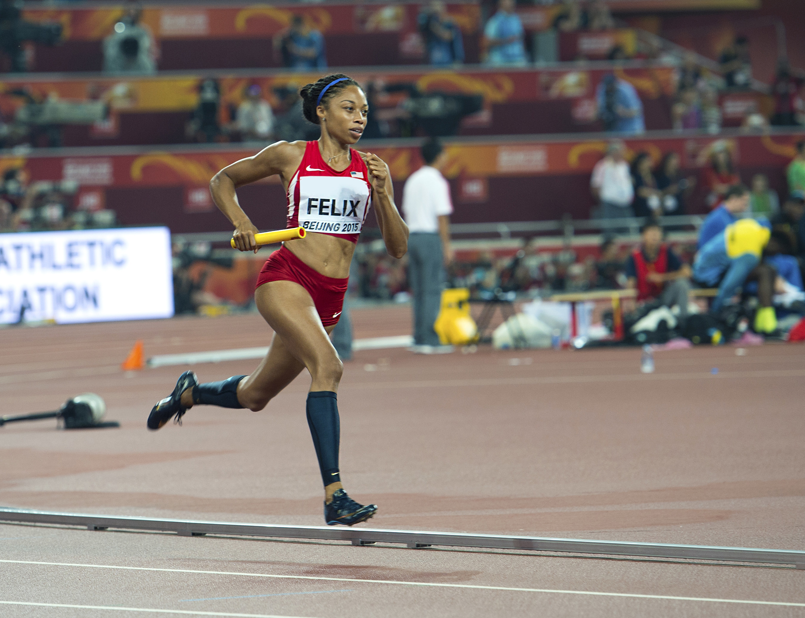 Allyson Felix is the newest member of Team Wheaties, joining a 90-year legacy of world-class athletes. Allyson has proven herself a strong champion as one of the most decorated sprinters in U.S. history.