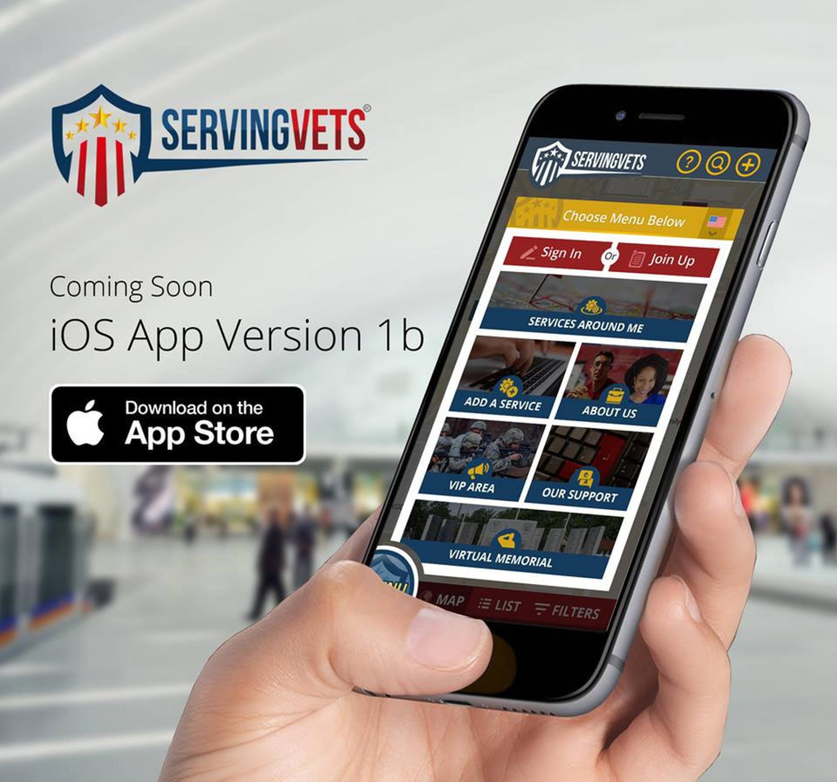 Version 1b of ServingVETS iPhone App iOS iPad App