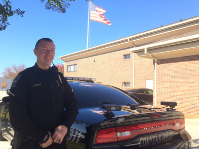 Officer Spencer Holland with his Vigilant Solutions License Plate Reader (LPR) System