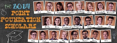 2014 Point Foundation Scholars (PRNewsFoto/Point Foundation)