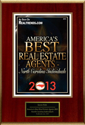 """Jason Dale Selected For """"America's Best Real Estate Agents 2013 - North Carolina Individuals"""". (PRNewsFoto/American Registry) (PRNewsFoto/AMERICAN REGISTRY)"""