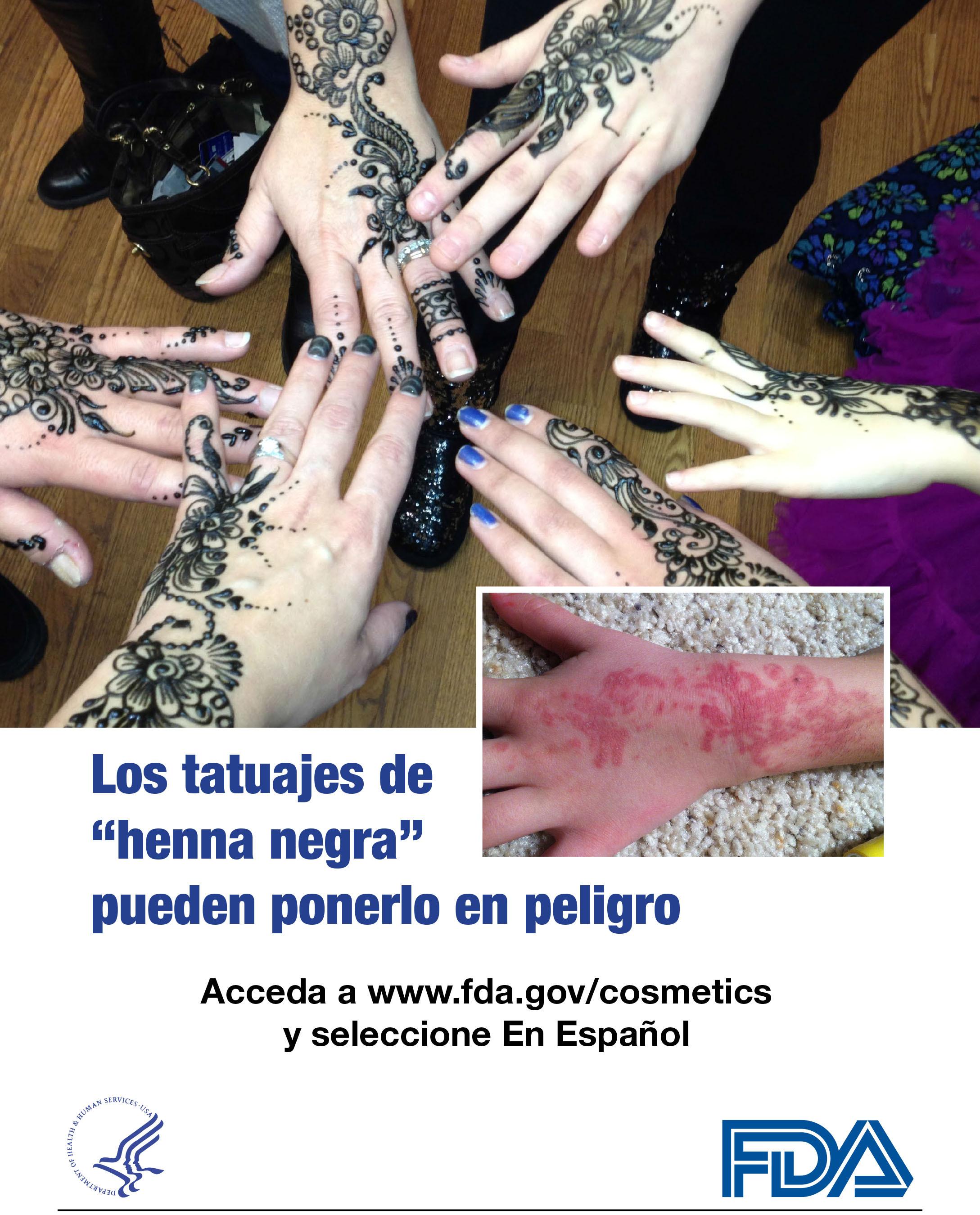 Los tatuajes de 'henna negra' pueden ponerlo en peligro