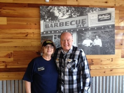 Owner/Operators Cliff and Charlene Strong celebrate the grand opening of their Catoosa store.