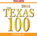Burleson LLP Ranks Among Texas Lawyers' 2015 Texas 100