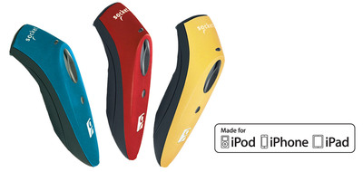 Socket Mobile Spring Color Collection of Apple certified barcode scanners for the iPad, iPad mini, iPhone and iPod touch.  (PRNewsFoto/Socket Mobile, Inc.)