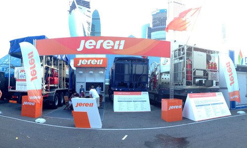 Jereh Top Equipment Debut at NEFTEGAZ 2014 (PRNewsFoto/Jereh Oilfield Services Group)
