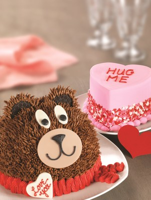 Teddy Bear Cake and Conversation Heart Cake