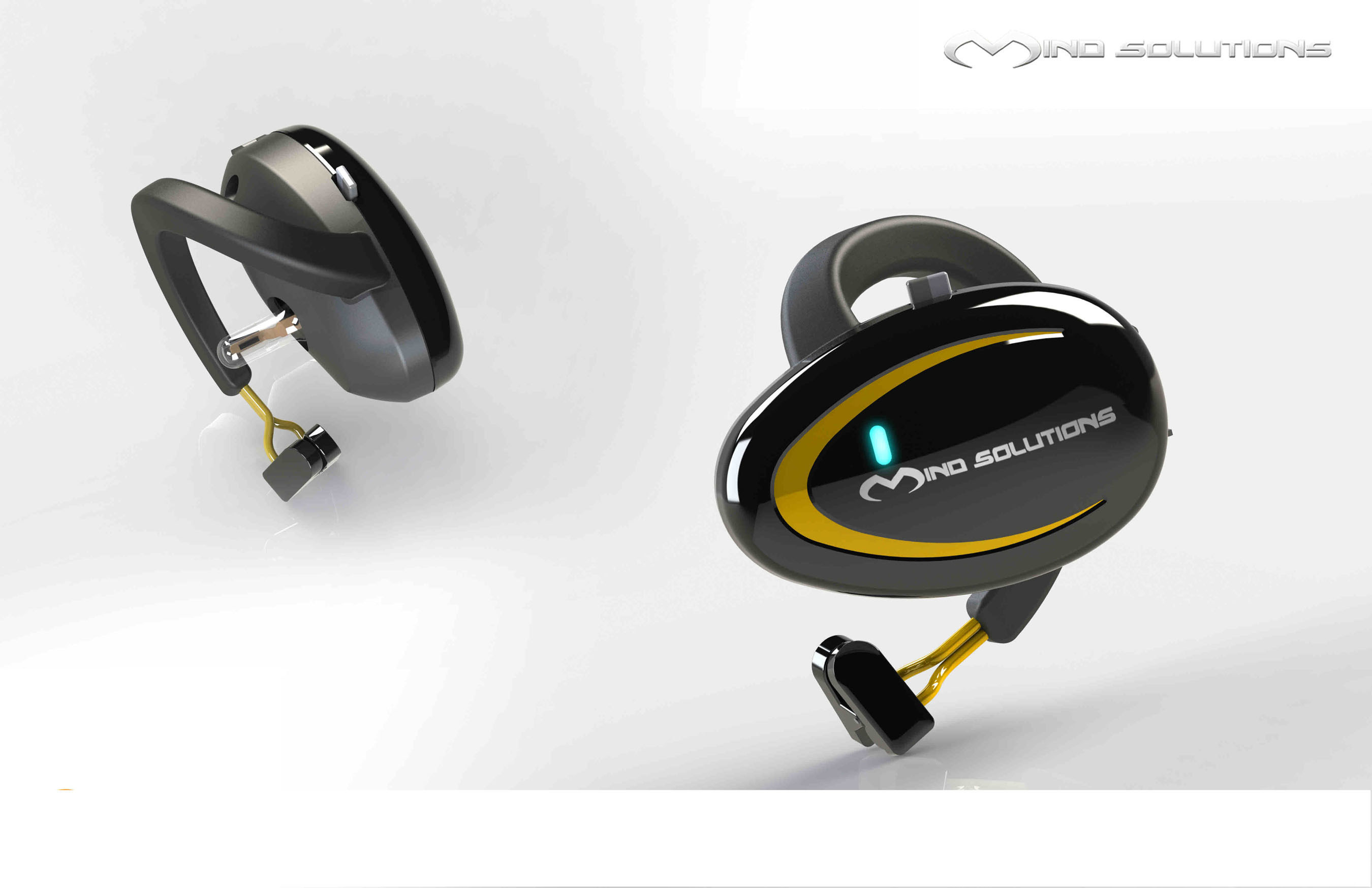 Mind Solutions, Inc. Creates EEG/BCI Device That Fits In Your Ear (PRNewsFoto/Mind Solutions, Inc.)