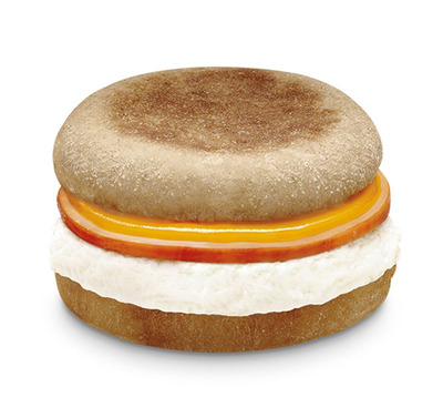 7-Eleven(R) stores' new Egg White Breakfast Sandwich is under 200 calories, contains 13 grams of protein and just five grams of fat. The sandwich is made with light, fluffy egg whites and topped with creamy cheddar cheese and hearty Canadian bacon, served between two soft, whole-wheat English muffins.  (PRNewsFoto/7-Eleven, Inc.)