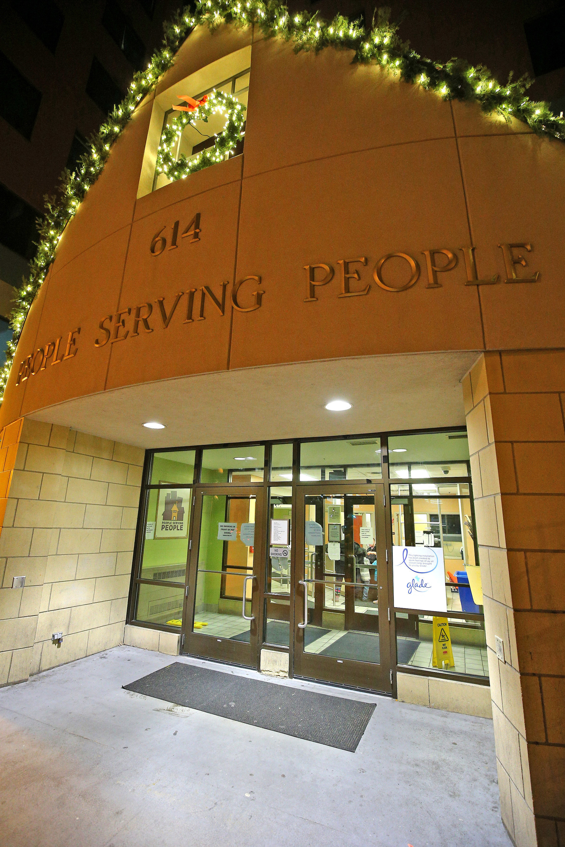 Glade(R) decorated the People Serving People shelter in Minneapolis, Minnesota on Tuesday, November 24, 2015 to deliver holiday cheer and provide a bright and joyous destination for families to visit this holiday season. (Adam Bettcher/Getty Images for SC Johnson)