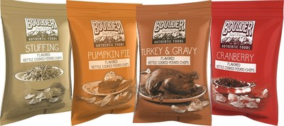 The holiday just got tastier as Boulder Canyon Foods reinvents the traditional Thanksgiving feast as kettle-cooked potato chip line