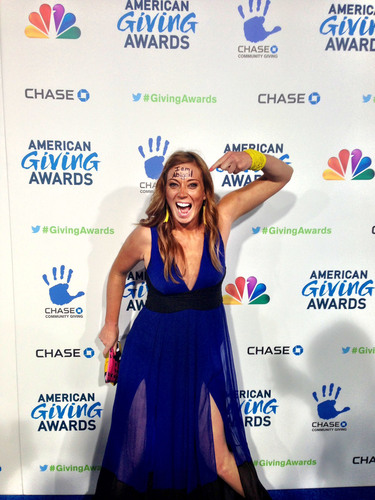 "Katie Meyler, Founder of More Than Me, excited before the American Giving Awards. More Than Me Foundation was announced winner of the $1 million grant at the American Giving Awards, sponsored by Chase. Katie Meyler, the founder of the organization, and her team inspired thousands to write ""I am Abigail"" on their foreheads throughout the campaign.  (PRNewsFoto/More Than Me Foundation)"