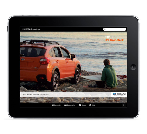 Subaru Releases iPad App for all-new 2013 XV Crosstrek.  (PRNewsFoto/Subaru of America, Inc.)