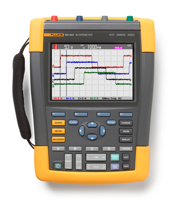 The Fluke 190-504 fills the needs of professional electronic troubleshooters working on medical, communications, navigation, and military devices who need the fast 5 GS/s -- or 200 pico seconds -- sample rate and 4-channels for greater accuracy and clarity of shape and amplitude of unknown waveform phenomena like transients, induced noise and ringing or reflections.