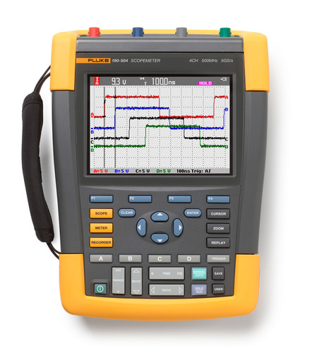 The Fluke 190-504 fills the needs of professional electronic troubleshooters working on medical, ...