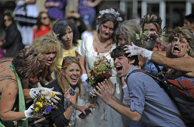 Spend an afternoon with 15,000 of the Living Dead at the Denver Zombie Crawl! (PRNewsFoto/VISIT DENVER, The Convention ...)