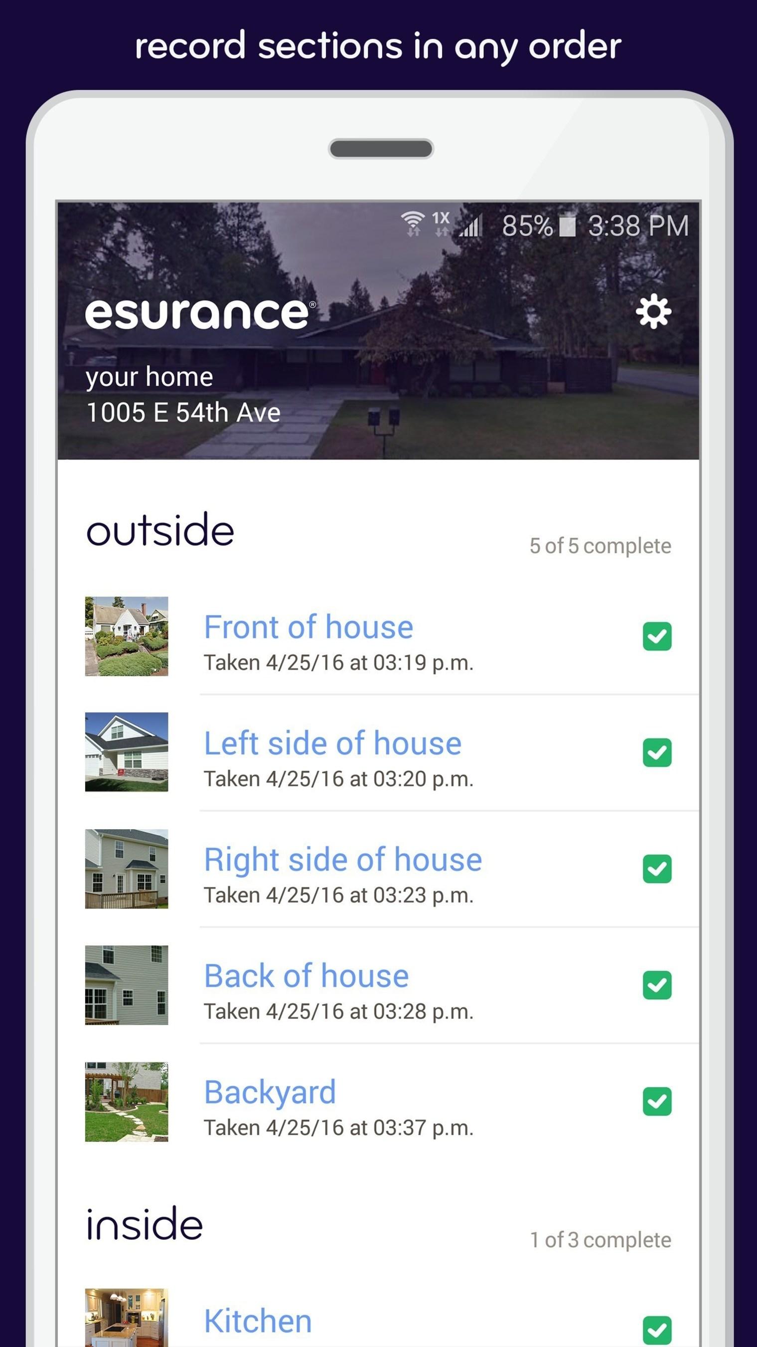 Esurance DIY Home Inspection app.