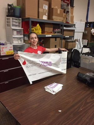 Cassie Fetsch is a student volunteer for The Leukemia & Lymphoma Society's Minnesota chapter. When school is out, Cassie is at the LLS office folding letters, stuffing and labeling envelopes, counting brochures, cleaning out drawers or putting together boxes.
