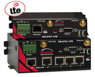 Red Lion Controls announces 4G LTE support for its Sixnet IndustrialPro 6000 series of industrial cellular routers. These are the first M2M rugged devices certified by and compatible with the Bell Mobility 4G LTE network. With LTE, these industrial wireless routers deliver high-performance wireless connectivity to remote and/or industrial environments, and can act as a primary connection or a WAN backup.  (PRNewsFoto/Red Lion Controls)