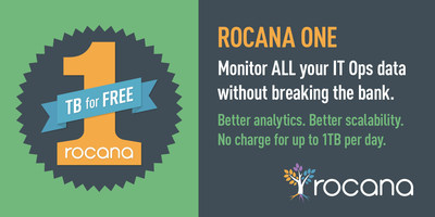 Rocana, a pioneer applying big data to IT Operations, today announced Rocana One, a program that provides companies with their flagship product, Rocana Ops, for free for up to 1 Terabyte of daily data volume. Unlike most free IT monitoring software offers which are handicapped by both functionality and scalability limits, Rocana One provides fully-functional, feature rich IT monitoring and analytics software with unlimited data retention.