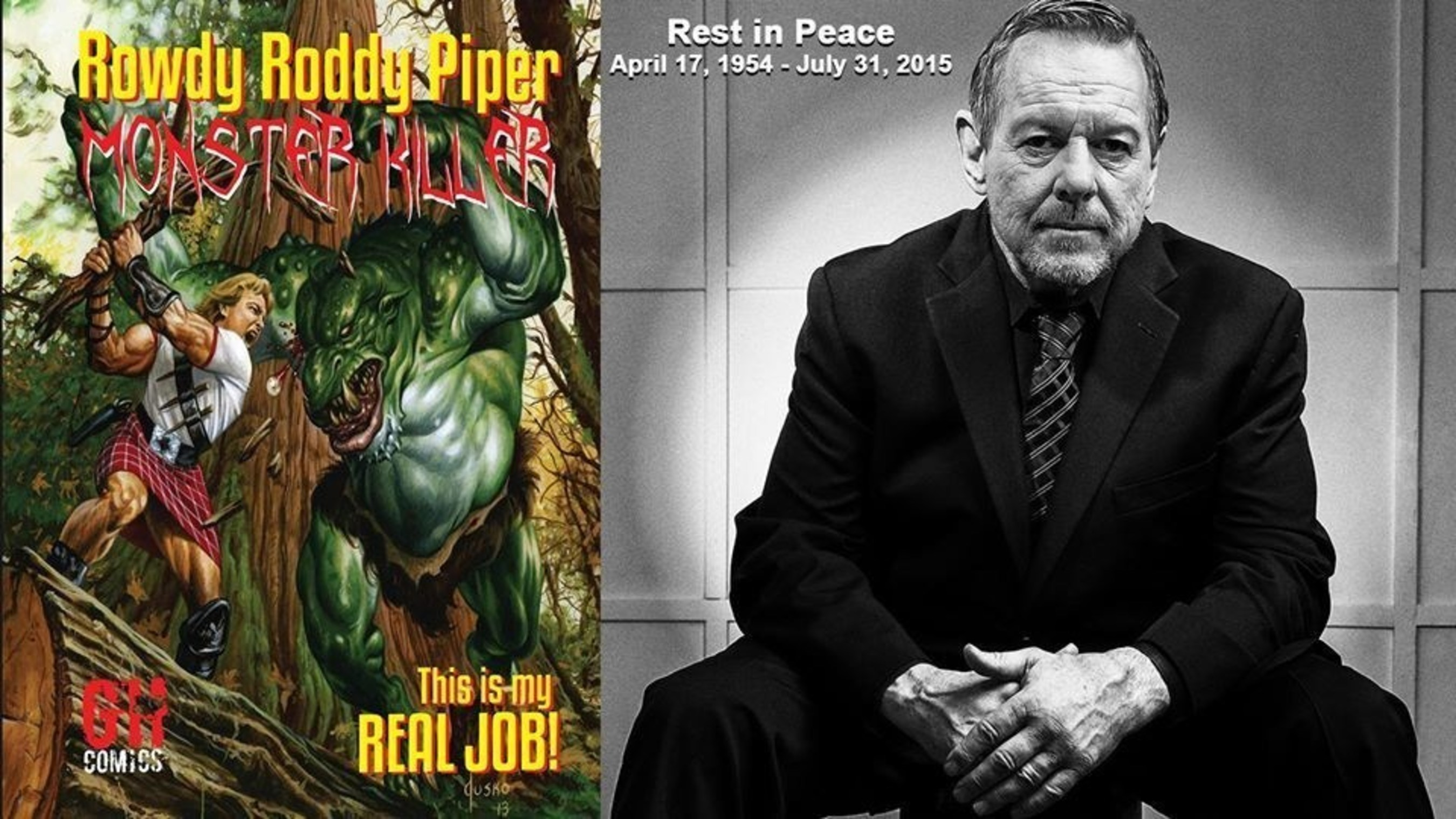 WWE Legend Rowdy Roddy Piper Monster Killer Graphic Novel - Now Available