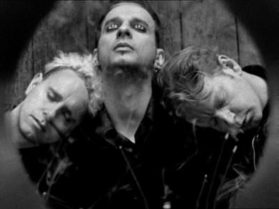 L-R: Martin Gore, Dave Gahan, Andy Fletcher