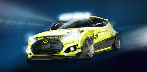 Hyundai Teams With EGR Group To Build 'Yellowcake' Night Racer Veloster Turbo For SEMA Show