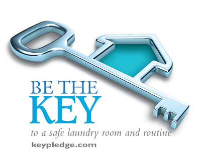 Be the KEY to a safe laundry room and routine!