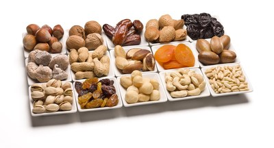 Image of Nuts and Dried Fruits. The impact that nuts have on health and have observed an inverse association between the frequency of nut consumption and cardiovascular disease (CVD), type 2 diabetes and body weight - copyright International Nuts and Dried Fruit Council. (PRNewsFoto/INC)