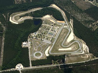 An aerial view of Carolina Motorsports Park