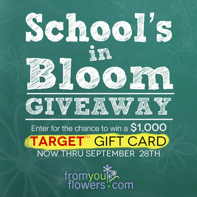 School's in Bloom Giveaway hosted by FromYouFlowers.com. Enter today for your chance to win!.  (PRNewsFoto/FromYouFlowers.com)