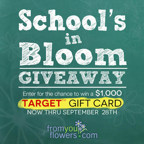 Win a $1,000 Gift Card in the FromYouFlowers.com Back to School Giveaway
