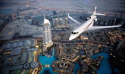 Dassault will present its entire range of Falcon business jets at the MEBA: Dubai World Central, December 11-13