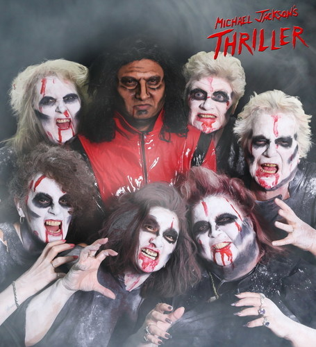 Michael Jackson Thriller (October): Harry Sharma, Jean Cunnington, Mauren Lovelock, Norma Oakley, Tricia Sweeney, Tracey Lesurf, Gayle McCarthy (PRNewsFoto/ExtraCare Charitable Trust) (PRNewsFoto/ExtraCare Charitable Trust)