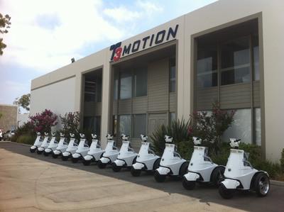 T3 Series Electric Stand-up Vehicle (ESV) in Costa Mesa, California.  (PRNewsFoto/T3 Motion, Inc.)